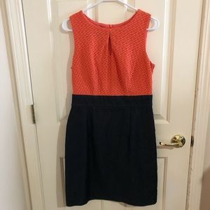 ALYX dress, size 6, coral and denim, knee length